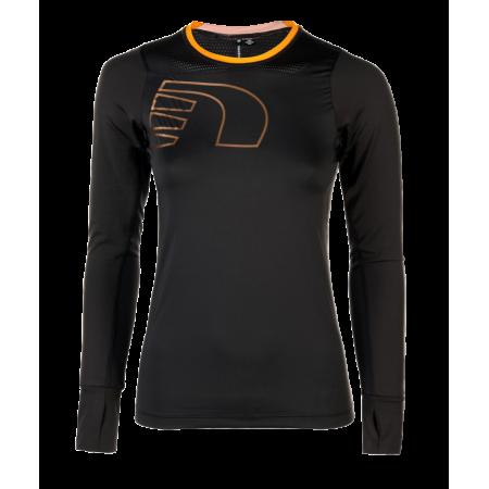 Löpartröja Newline Iconic Vent Stretch Shirt - Soft Black - Dam Storlek XL
