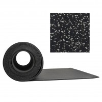 Gymgolv Everroll 8 mm 1,25mx10m Svart-Ljusgrå