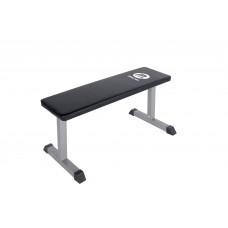Träningbänk Master Fitness Flat Bench Silver
