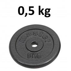 Skolvikt för 25 mm stång Master Fitness 0,5kg