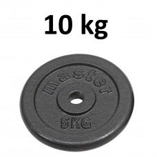 Skolvikt för 25 mm stång Master Fitness 10kg