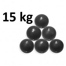Slamball Svart 15 kg - Master Fitness