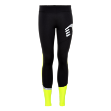 Newline Visio Tights - Black-Yellow - Dam