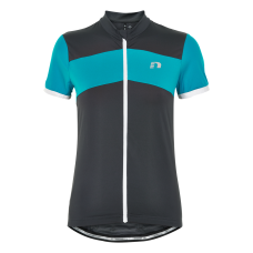Newline Bike Woman Full Zip Stretch Tee - Grå-Turkos - Dam