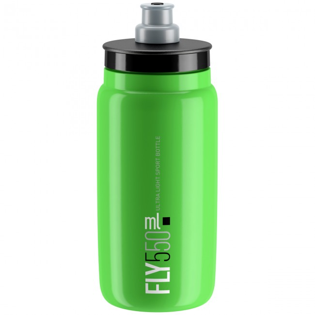 Cykelflaska Elite FLY Green Svart logo 550 ml