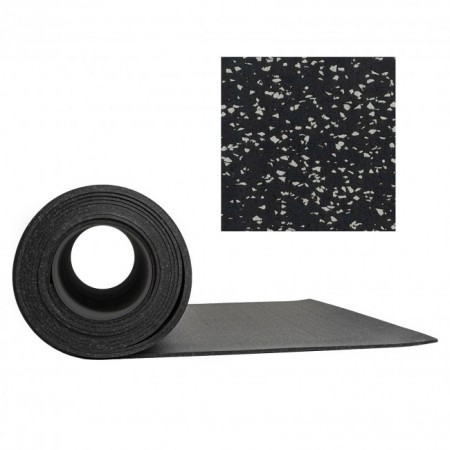 Gymgolv Everroll 6 mm 1,25mx10m Svart-Ljusgrå