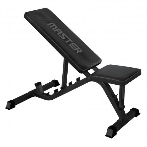 Träningsbänk justerbar Master Fitness Black