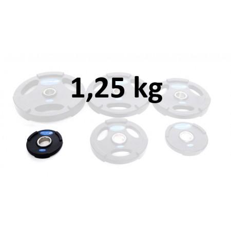 Gummiklädd viktskiva Master Fitness 1,25 kg