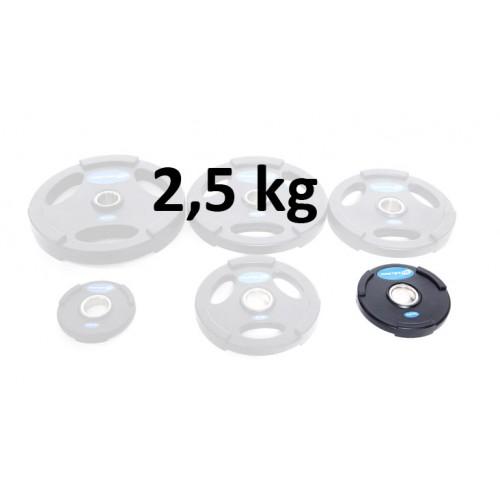 Gummiklädd viktskiva Master Fitness 2,5 kg