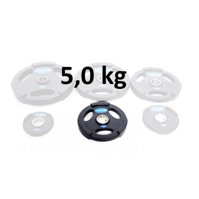 Gummiklädd viktskiva Master Fitness 5,0 kg