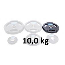 Gummiklädd viktskiva Master Fitness 10,0 kg