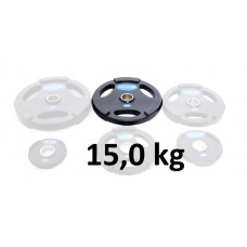 Gummiklädd viktskiva Master Fitness 15,0 kg