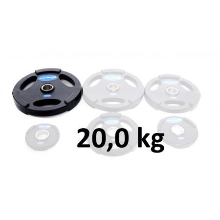 Gummiklädd viktskiva Master Fitness 20,0 kg