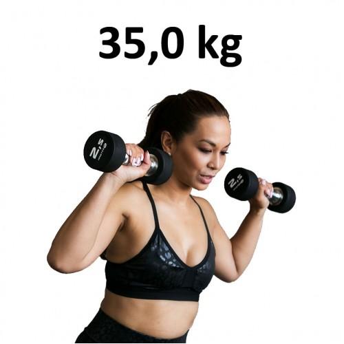Premium Gummihantel Master Fitness 35,0kg