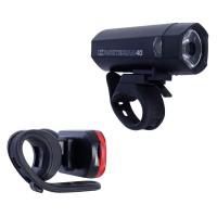 OXC Cykelbelysningsset Bright Torch 40 Lumen