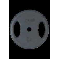 Viktskiva Casall Weight plate grip 1x5kg - Black