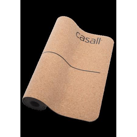 Casall Yoga mat natural cork 5mm - Natural cork/black