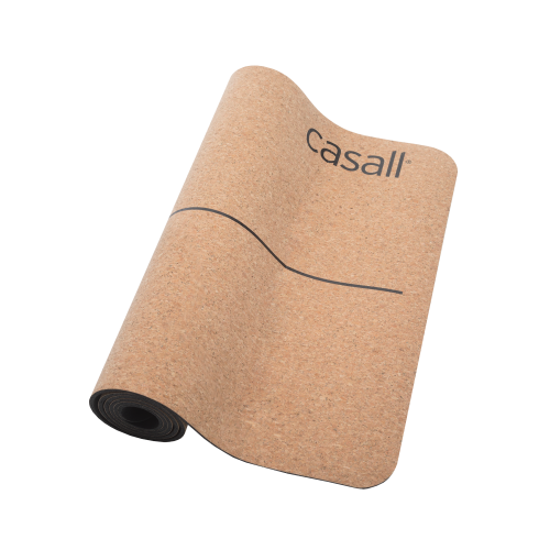 Casall Yoga mat natural cork 5mm - Natural cork/black