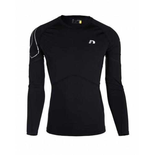 Löpartröja Newline W Compression LS Shirt Black Dam Storlek L
