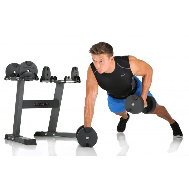Hammer Smartlock Hantelset med ställning 2-32kg
