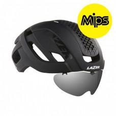 Cykelhjälm Racer Lazer Bullet 2.0 Matt Svart Lins+LED MIPS