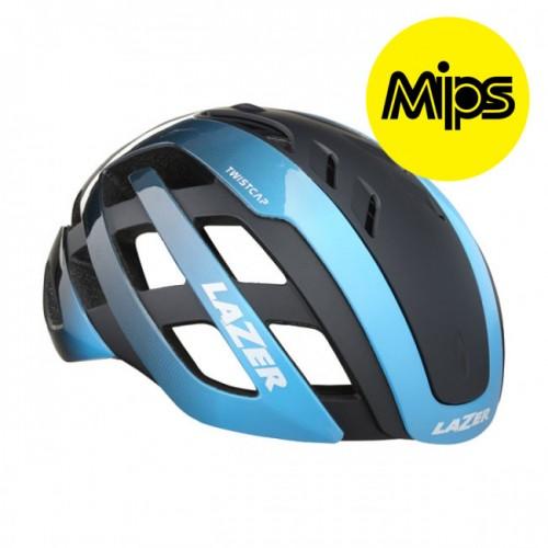 Cykelhjälm Racer Lazer Century MIPS Blå-Svart LED