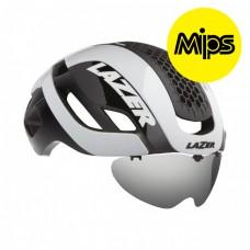 Cykelhjälm Racer Lazer Bullet 2.0 Vit Lins+LED MIPS