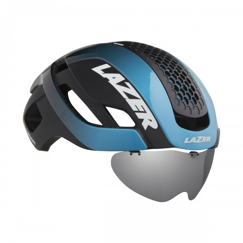 Cykelhjälm Racer Lazer Bullet 2.0 Blå-Svart Lins+LED