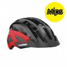 Cykelhjälm Lazer Petit DLX 50-57cm Svart-Röd MIPS