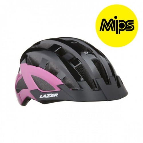 Cykelhjälm Lazer Petit DLX 50-57cm Svart-Rosa MIPS