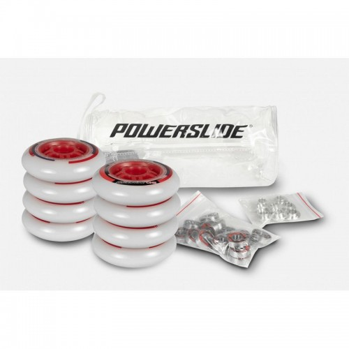 Inlineshjul Powerslide One 90mm/82A 8-pack inkl. lager+spacer