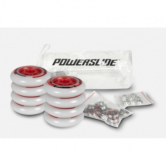 Inlineshjul Powerslide One 80mm/82A 8-pack inkl. lager+spacer