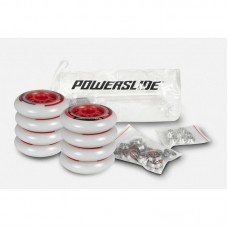 Inlineshjul Powerslide One 76mm/82A 8-pack inkl. lager+spacer