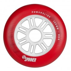 Inlineshjul Powerslide Spinner 100mm/88A Röd