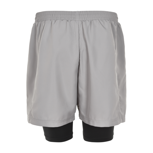 Träningsshorts Newline Black 2-Lay Shorts - Wet Grey