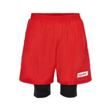Träningsshorts Newline Black 2-Lay Shorts - Red