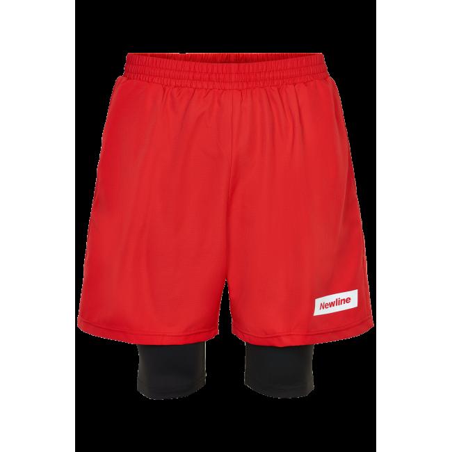 Träningsshorts Newline Black 2-Lay Shorts - Red
