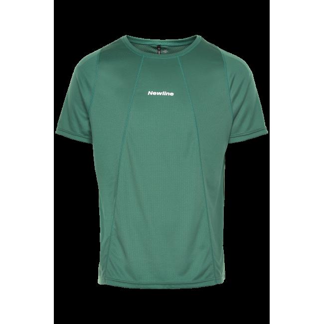 T-shirt Newline Black Tech Tee - Mallard Green