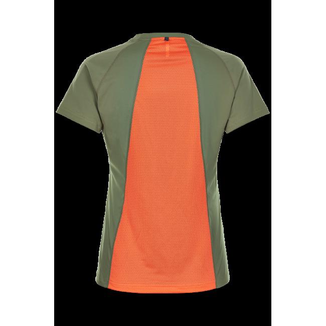 T-shirt Newline Black Feather Tee - Para Green - Dam