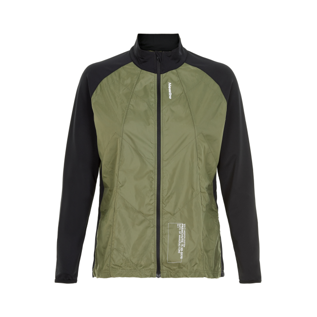 Löparjacka Newline Black Windbreaker Shirt - Para Green - Dam