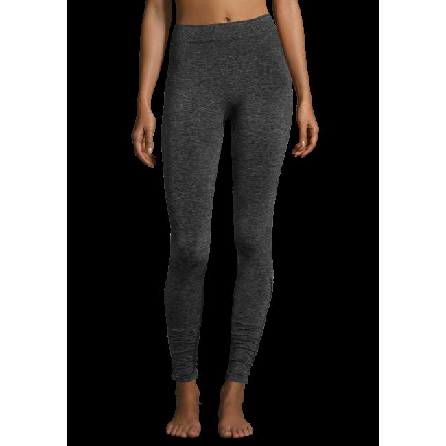 Casall Seamless rib tights - Dk grey melange metallic