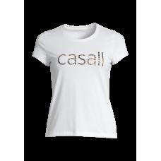 Casall Heritage Logo Tee - White
