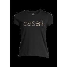 Casall Heritage Logo Tee - Black