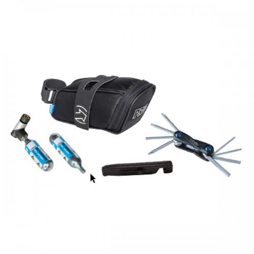 Kombipack Pro Sadelväska, kolsyrep miniverktyg, däcksavtagare