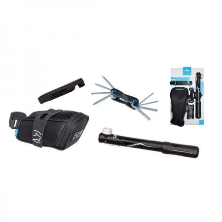 Kombipack, Pro Sadelväska, minipump miniverktyg, däcksavtagare