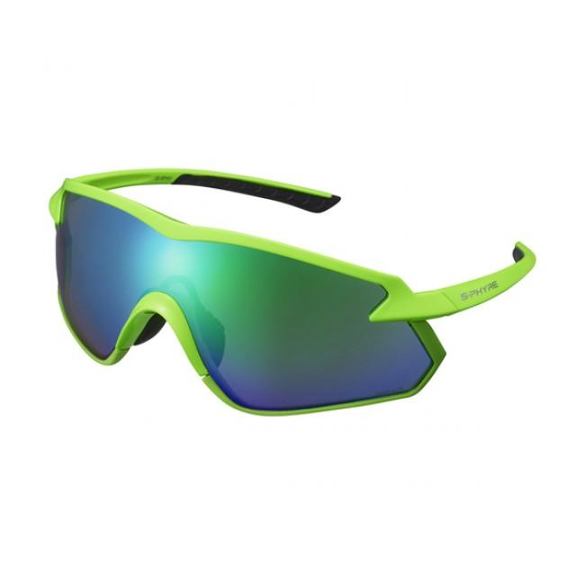 Cykelglasögon Shimano S-Phyre X grön polariserad neongrön