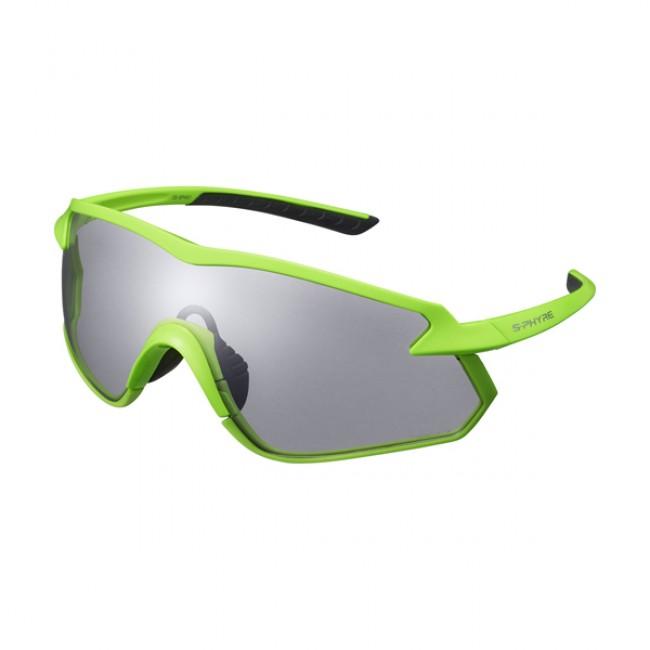 Cykelglasögon Shimano S-Phyre X neongrön fotokromatisk neongrön