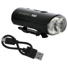 OXC Belysning Mini+ Fram, 100 Lumen, Inkl USB-laddare