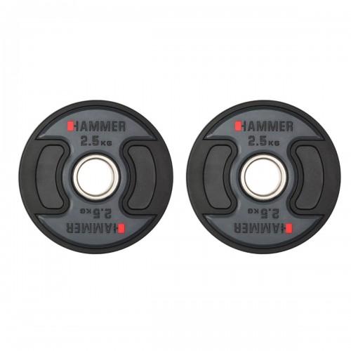 Gummiklädda internationella viktskivor Hammer 2x2,5 kg