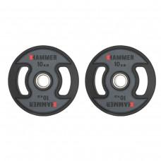 Gummiklädda internationella viktskivor Hammer 2x10 kg